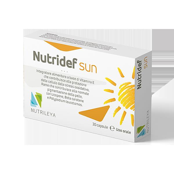 Nutridef Sun: l'innovativo integratore della ditta Nutrileya